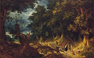 Wooded Landscape with Gipsy Women