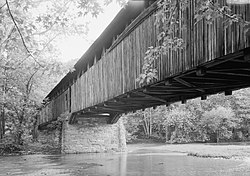 Academia Bridge, Spanning Tuscarora Creek, bypassed section of Mill, Academia (Juniata County, Pennsylvania).jpg