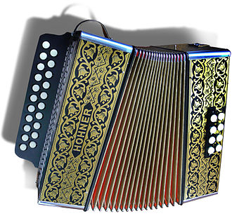 Diatonic button accordion - Image: Accordéon diatonique