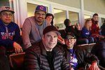 Actors Michael Pena and John Travolta enjoys Game 5 of the 2016 World Series. (30682694685).jpg