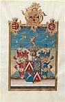 Adelsdiplom - Wertheimer von Wertheimstein 1792 - Wappen.jpg