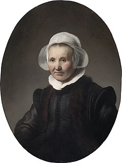 <i>Portrait of a 62-year-old Woman, possibly Aeltje Pietersdr Uylenburgh</i> painting by Rembrandt