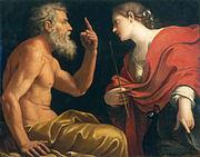 Aeolus and Juno - Lucio Massari