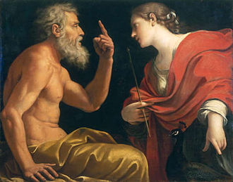 Aeolus (son of Hippotes) - Aeolus and Juno by Lucio Massari
