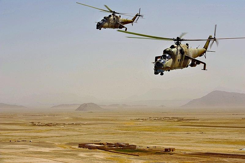 File:Afghan Mi-35s.jpg
