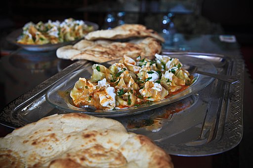 Afghan dish of mantu