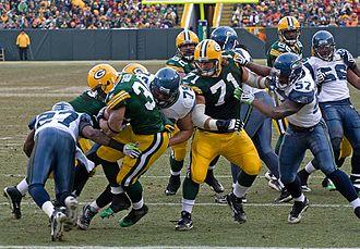 Ahman Green - Ahman Green runs in for a touchdown against Seattle on December 27, 2009.