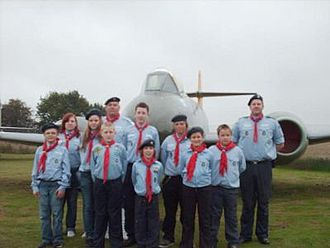 Scouting in East of England - Image: Air Scouts of the Baden Powell Scouts' Association, July 2008