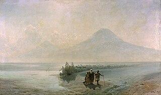 Descente de Noé du mont Ararat