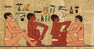 Sociology of health and illness - Wall painting found in the tomb of an Egyptian official known as the physicians tomb