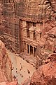 Al Khazneh (The Treasury) in Petra view from above 3.jpg