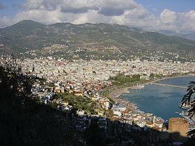 Centre-ville et port d'Alanya