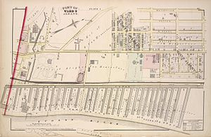 Albany Lumber District - The lumber district and adjacent North Albany neighborhood.