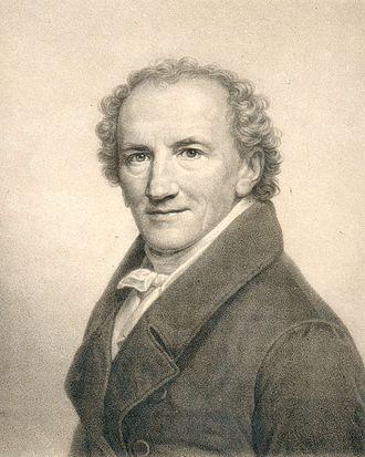 Friedrich Carl Gröger - Portrait of Gröger, lithograph by H. J. Aldenrath, 1828