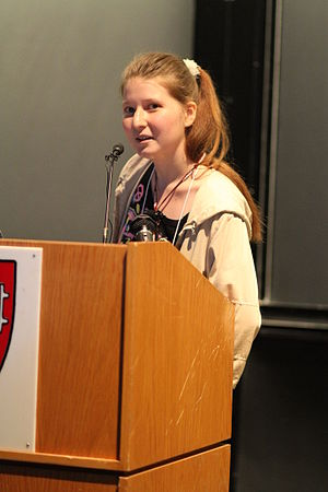 Sci-Hub - Alexandra Elbakyan at a conference at Harvard (2010)