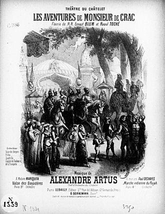 Alexandre Artus - Couverture de la Marche indienne du Rajah illustrée par Gustave Donjean