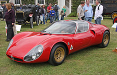 Early version side profile. (Alfa Romeo museum replica).
