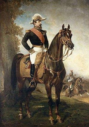 Alfred de Dreux - Equestrian portrait  of Napoleon III.
