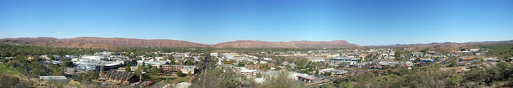 Panoramabilde over Alice Springs