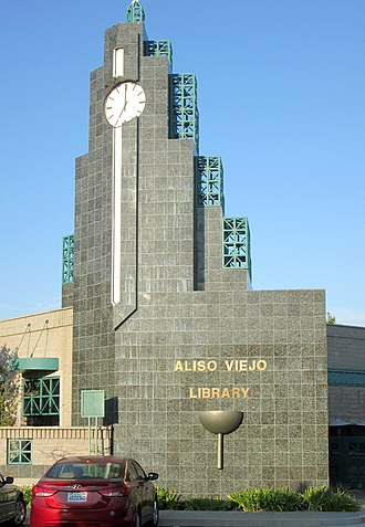 Aliso Viejo, California - Clock tower of the Aliso Viejo Library