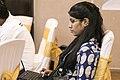 Aliva Sahu at Odia Wikipedia's 16th anniversary, Bhubaneswar, Odisha, India.jpg