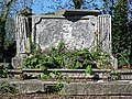 All Hallows Church Tottenham London England - churchyard chest tomb overgrown 9.jpg