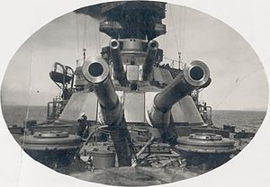 EOC 14 inch/45 naval gun - Forward guns of Almirante Latorre