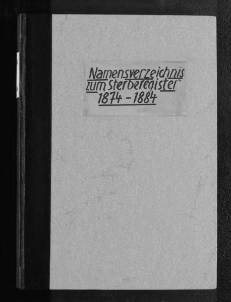 File:Alphabetisches Namensverzeichnis zum Sterberegister des Standesamtes Minden, 1874 (4. Quartal) bis 1884.djvu
