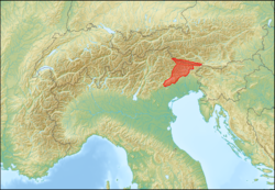 Alps location map (Prealpi Carniche & Karnischer Hauptkamm).png