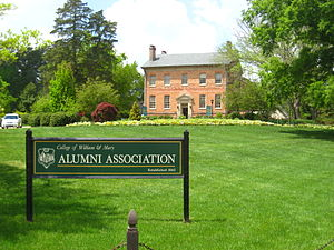 Alumni House (College of William & Mary) - Image: Alumni House, College of William and Mary (Williamsburg, Virginia, USA 2008 04 23)