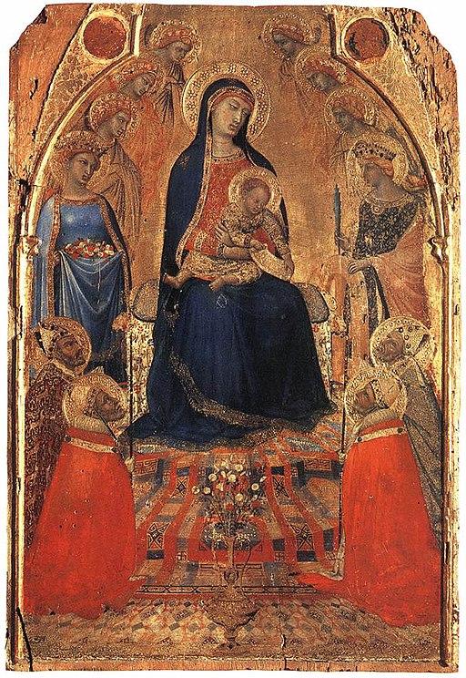 Piccola Maestà, circa 1340, tempera e oro su tavola, dallo Spedale di Santa Maria della Scala, Pinacoteca Nazionale, Siena