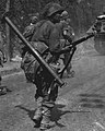 American soldier with M1A1 Bazooka on 23 August 1944 near Fontainebleau, France, from- American Troops near Fontainebleau NARA 111-SC-193562cropped (cropped).jpg