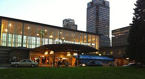 Amsterdam Amstel station - Railway station's entrance in 2013
