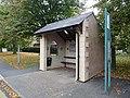 An artistic bus shelter, Potterhanworth (geograph 3179894).jpg