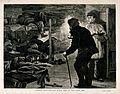 An opium den in London's East End with men lying on wooden b Wellcome V0019172.jpg