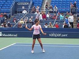 Ana Ivanović in azione