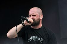 "Anaal Nathrakh, Dave ""V.I.T.R.I.O.L."" Hunt at Party.San Metal Open Air 2013 05.jpg"
