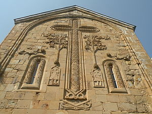 Ananuri - East façade of Church of the Mother of God, Ananuri