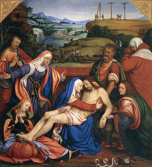 Andrea Solario - Lamentation over the Dead Christ - WGA21603