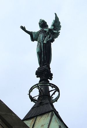 Angel of death on the roof of the mausoleum of...