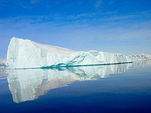 Cold - An iceberg, which is commonly associated with cold