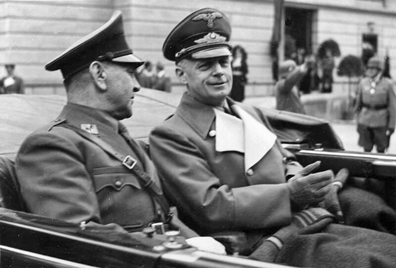 Ante Pavelić und Joachim von Ribbentrop
