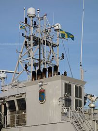 Antennas and exhausts on mid tower of KBV 032.jpg
