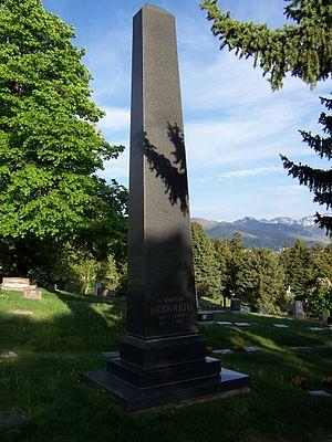 Anthon H. Lund - Image: Anthon H Lund Monument Front