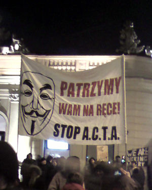 Anti-Counterfeiting Trade Agreement - Protests in Poland, January 2012