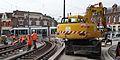 Anzin & Valenciennes - Travaux de raccordement des lignes A & B du tramway de Valenciennes à la Croix d'Anzin le 20 août 2013 (19).JPG