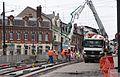 Anzin & Valenciennes - Travaux de raccordement des lignes A & B du tramway de Valenciennes à la Croix d'Anzin le 9 août 2013 (07).JPG