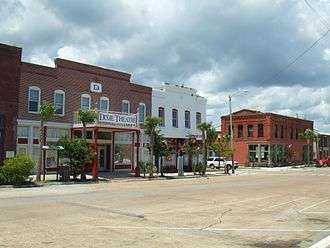 Apalachicola, Florida - A street in Apalachicola showing the Dixie Theatre