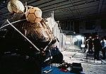 Apollo 11 spacecraft Command Module aboard USS Hornet (25954195723).jpg