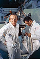 Apollo 13 prime crew before water egress training, January 1970.jpg